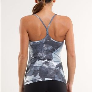 Lululemon Power Y Tank: White Coal Tinted Canvas